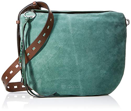 Liebeskind Berlin Damen Dive Bag Suede Crossbody Medium Umhängetasche, Grün (Dark Green), 3.0x33.0x33.0 cm -