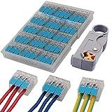 AERZETIX Juego de 20 grapas de fijaci/ón por tornillo para cable alambre blanco /Ø3mm