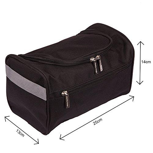 886c0007b2 ... da Viaggio Uomo Appendibile Beauty Case Bagno Borsa per Kit Rasatura  Portatile – Perfetta per Cura del Corpo & Dimensioni Tascabili (Nero).  Visualizza ...