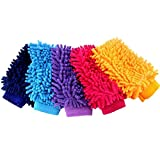 #9: Kretix Car Wash Coral Fleece Hand Brush Gloves Cleaning Sponge Car Window Glass Washer Cleaner Microfiber Ultra fine Washer Clean Tools