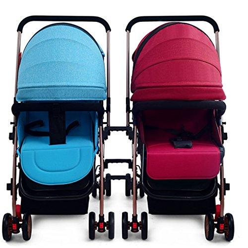 Silla de paseo El cochecito de bebé gemelo se puede dividir el bebé ligero del choque puede sentarse la mentira cochecito doble Carrito plegable (Color : C)