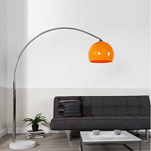 BIG BOW RETRO DESIGN LAMPE ORANGE höhenverstellbar von XTRADEFACTORY Lounge Stehlampe Bogenlampe