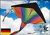 Wunderschöner Drachen-Rainbow | Drache Regenbogen | Herbstdrachen inclusive 30m Drachenschnur |...