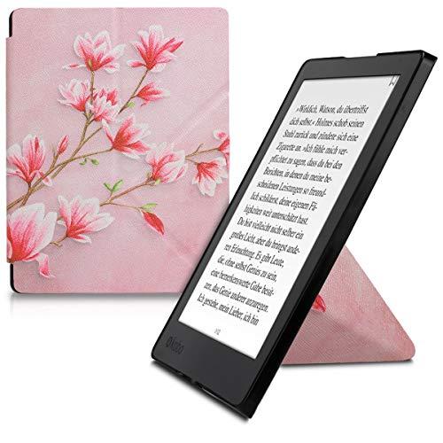 kwmobile Funda para Kobo Aura H2O Edition 2 - Carcasa magnética con Origami  de e-Reader - Case con diseño de Magnolias