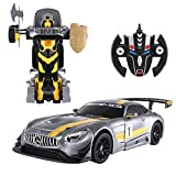 COSTWAY 2,4G 1:14 R / C Mercedes-Benz GT3 Transformator Roboter-Auto Ferngesteuert Transformers Auto & Robot verwandelbar 1:14RS