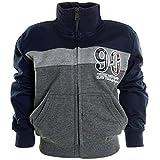Jungen Kinder Winter Jacke Stehkragen Sweat Shirt Jacke Langarm 20788 Anthrazit Größe 128