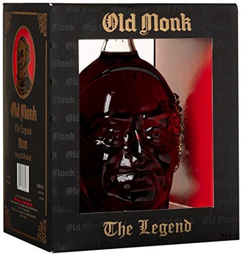 Old Monk The Legend Rum mit Geschenkverpackung  (1 x 1 l)