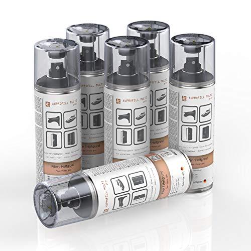 AUPROTEC Haftgrund Füller AUPROFILL Multi Filler Grundierung für Autolack Primer Spray grau 6X 400ml