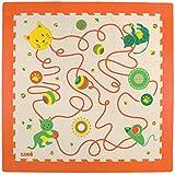 LUDI – Dalles décoratives épaisses pour l'éveil de bébé – 10003 - Tapis de sol au motif Chat - dès 10 mois – lot de 9 dalles en mousse aux couleurs douces et 23 éléments de jeu.