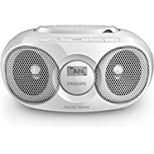 Philips AZ318W/12 Portable CD player Blanco reproductor de CD - Unidad de CD (2 W, FM, LCD, Corriente alterna, Batería, 232 mm, 124 mm)