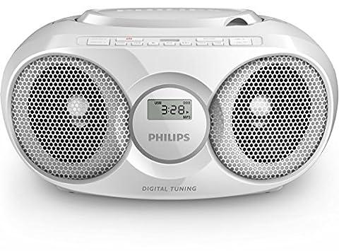 Philips AZ318W Radio/Radio-réveil Lecteur CD MP3 Port USB