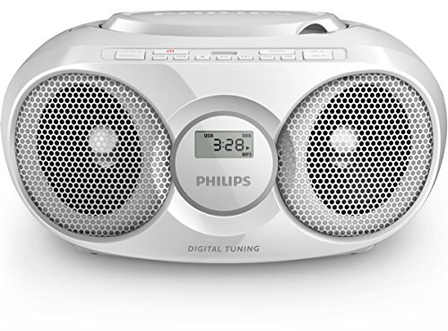 Philips AZ318W/12 CD-Player (USB, MP3, Radio) weiß