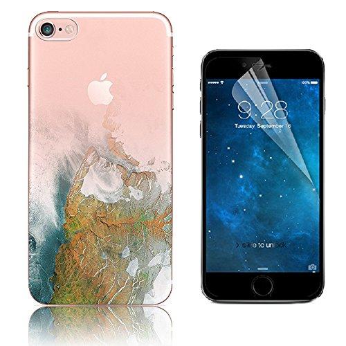 Custodia iPhone 7 ,Bonice Cover iPhone 7 Silicone Trasparente TPU Flessibile Ultra Sottile Paesaggio Scenario Bumper Case per Apple iPhone 7 + 1x Protezione Dello Schermo Screen Protector - Pattern 21 model 19