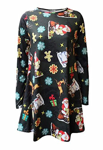Generic - Robe - Patineuse - Manches Longues - Femme Parying Santa
