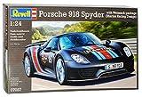 Porsche 918 Spyder Weissach Package Martini Design Schwarz 07027 Bausatz Kit 1/24 Revell Modell Auto mit individiuellem Wunschkennzeichen