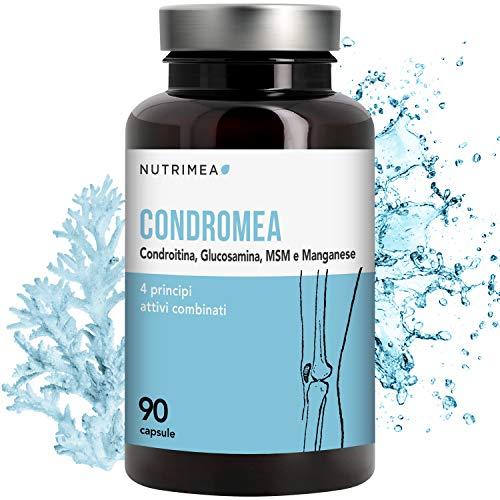 Condroitina Glucosamina MSM Manganese Cartilagine Dolori Articolari 90 capsule Origine Vegetale