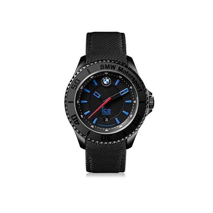 Ice-Watch - BMW Motorsport (Steel) Black - Schwarz Herrenuhr mit Lederarmband - Chrono