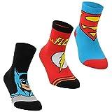 DC Comics Socken für Jungen / Säuglinge / Kleinkinder, 3er-Pack, mit aufgedruckten Charakteren, mehrfarbig