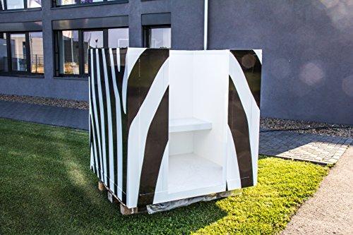 COOLBOX Nebelkabine für hygienische Saunaerfrischung im Zebra-Look (moderne Tauchbecken-Alternative) - 5