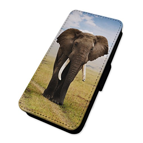 Elefante africano – Custodia ad aletta in pelle copertura di carta Apple Iphone 8