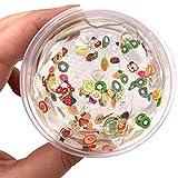 Togather Slime Schleim, Slime Fluffy Schleim Selber Machen mit Obst Dekoration für Kinder ab 3 Jahre