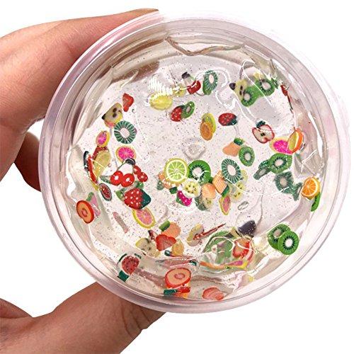 Slime Schleim, Togather Slime Fluffy Schleim Selber Machen mit Obst Dekoration für Kinder ab 3 Jahre (Obst-dekoration)