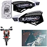 R.J.VON - Bike Hand Guard Protector Fits, White/black Color For - Tvs Apache Rtr 160