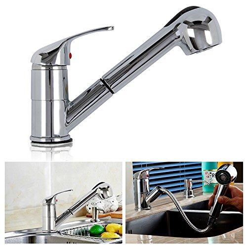 AllRight Einhebelmischer Küchenarmatur mit herausziehbarer Schlauch Brause Wasserhahn -