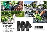 120 g/m² - Reißfestes Gartenvlies, Unkrautvlies bzw. Unkrautschutzvlies mit hoher Wasserdurchlässigkeit (10 m x 1 m, schwarz)