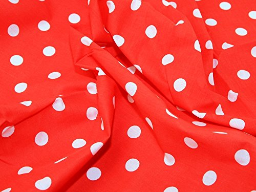 red-white-polka-dot-spot-polycotton-fabric-per-metre
