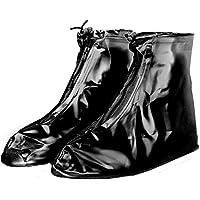 1 Par de Cubiertas de zapatos para lluvia a prueba de agua de alta calidad planas