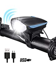 Inditradition Bicycle Bike LED Headlight and Horn 2 in 1 W