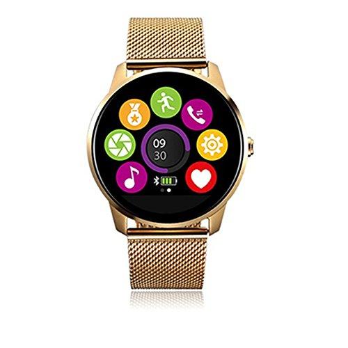 Nuevo Modelo Reloj Inteligente para Hombre y Mujer Pulsera Inteligente con OLED Pantalla Táctil Altavoz Monitor de Sueño y Frecuencia Cardiaca Podómetro