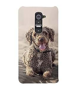 FUSON Toy Poodle Sitting Dog 3D Hard Polycarbonate Designer Back Case Cover for LG G2 :: LG G2 Dual D800 D802 D801 D802TA D803 VS980 LS980