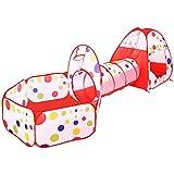 BATTOP Tienda de Juego Piscina de Bolas con Túnel para Niños Interior y Exterior