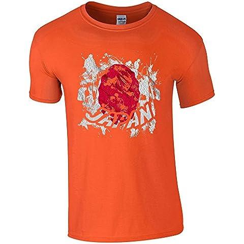 Bandiere Firmata Collezione 2, Orange Gildan Softstyle Ringspun T-shirt Arancione Cotone Uomo Maglietta Mens T-Shirt Top con Design Colorato. Taglia S M L XL XXL. - Vintage Firmata Giappone