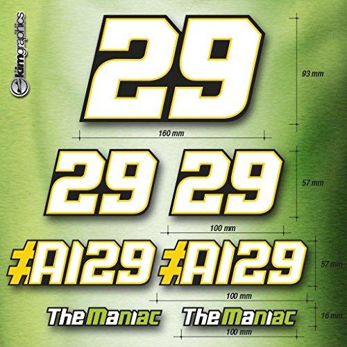 kit 7 adesivi Andrea Iannone #29 suzuki moto MotoGP factory stickers