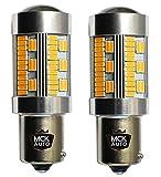 Bombillas LED ámbar, naranja Canbus PY21W 30SMD con indicador delantero, trasero, serie 581 BAU15S EB5R3