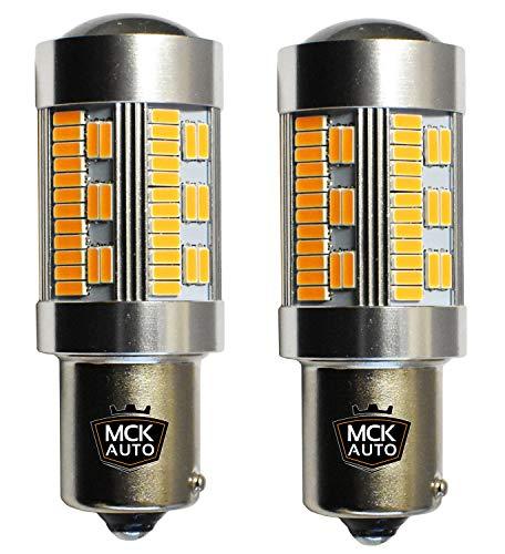 MCK Auto - Sostituzione per PY21W 581 BAU15S LED CanBus Set di lampadine arancioni molto chiare e senza errori compatibili con F30 F31 A1 A3