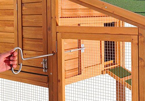 Hühnerstall mit Freilauf und Nistkasten Fichtenholz 171 x 66 x 120 cm Gitter und Kotwanne verzinkt - 3