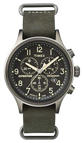 Timex Expedition Scout Chrono Leder Man TW4B04100