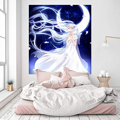 AJ WALLPAPER 3D Sailor Moon 185 Japan Anime Wandaufkleber Vinyl Wandbilder Druck Kunst | Selbstklebend Große Wandaufkleber DE Wendy (Vinyl (Kein Kleber & abnehmbar), 【19.7