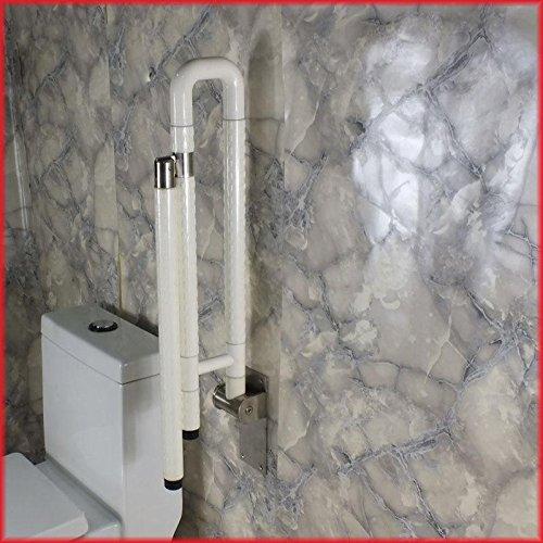 KHSKX Die WC-Handlauf, rutschfeste, tragen die Behindertentoilette Handlauf, barrierefreie Toilette Handlauf , white