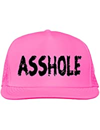 asshole bright neon truckers mesh snap back hat in neon pink - one size 4af55bfbc619