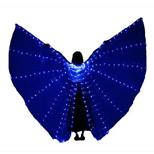 (LED Bühne Leistung Prop Frauen Tanz Mädchen LED Luminoso ISIS Leider Leuchten Flügel Kostüm LED Estilo abierto Alas con palos (Königsblau))