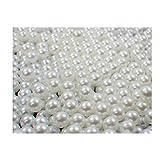 Sepkina Sparpack 1000 Hochwertige nachgebildete Lose Perlen Perle Dekoperlen Kunststoffperlen Ohne Loch 5mm Weiss