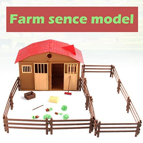 OHQ Modelo de Juego simulado Casa de la Granja Los niños juegan en casa Modelo de Escena Animal