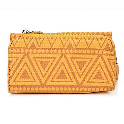 Kroo Pochette/étui style tribal urbain compatible avec Samsung Galaxy Note 3 Multicolore - jaune Multicolore - jaune