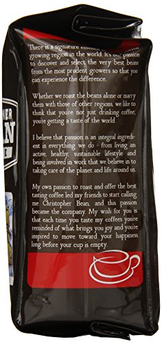 Christopher Bean Coffee Flavored Ground Coffee, Vanilla Nut Butter Cookie, 12 Ounce
