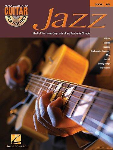 Guitar Play Along JAZZ (+CD) mit Plektrum -- 8 Jazz Standards u.a. mit SATIN DOLL und MISTY für Gesang und Gitarre in Standardnotation und Tabulatur (Noten/sheet music)